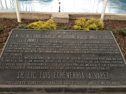 Dedication Plaque Outside the Administrative Building