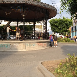 ... in the Central Plaza. Jugglers and b-boys.