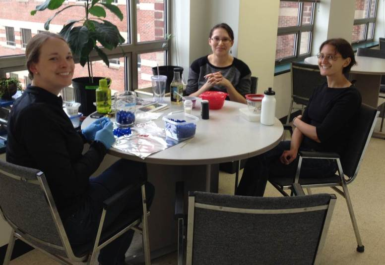 These lovely ladies (L to R: Beth, Erica and Ariela) are all in Entomology; I stole their picture while they were eating lunch and doing science.