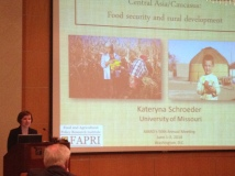 Kateryna Schroeder, also a member of the 2012 class of Future Leaders, discussing food security in Central Asia.