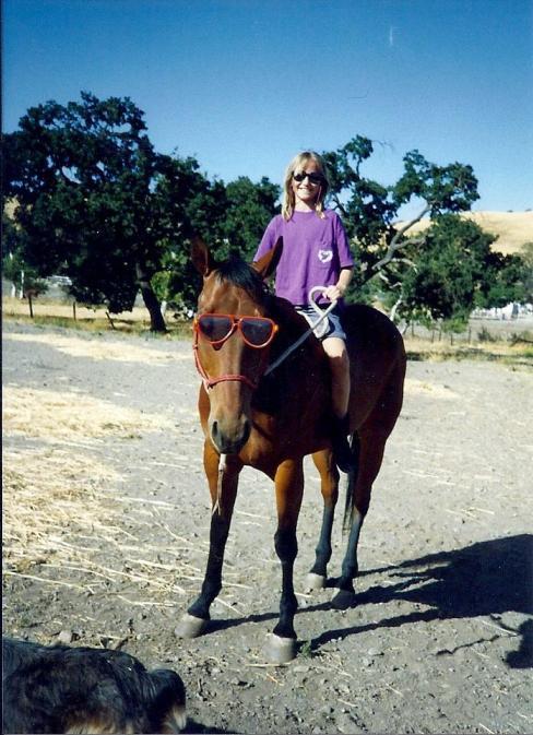 My horse TJ.