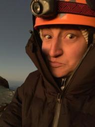 "My ""holy shit that sunrise is amazing and I'm at 15,500 feet!"" face."